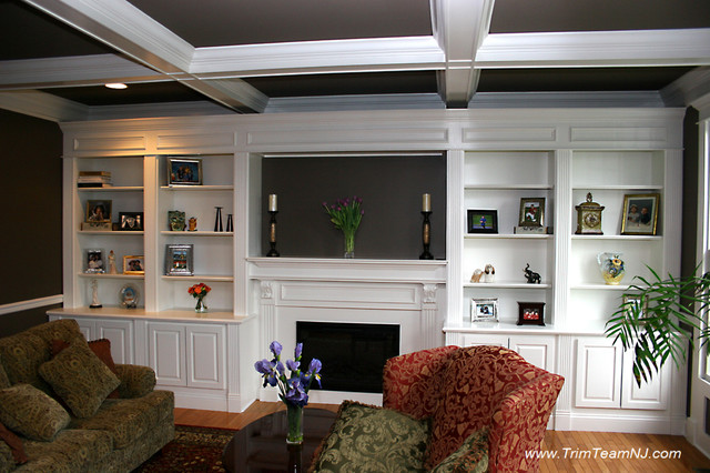 Galeria Bookcases, Wall Unith, Built-Ins, Shelving - Traditional - Living Room - by Trim Team NJ