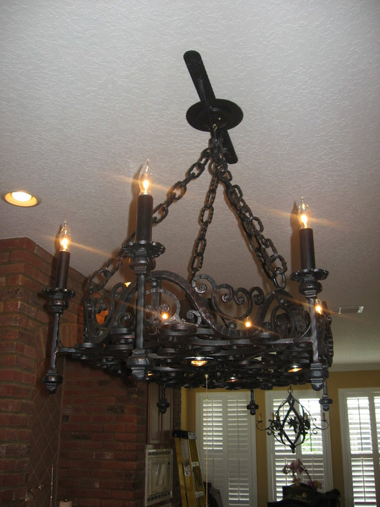 Wrought Iron Ideas - Custom Wrought Iron Chandelier