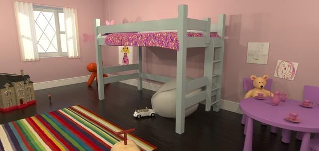 Twin Loft Bunk Bed contemporary-bunk-beds
