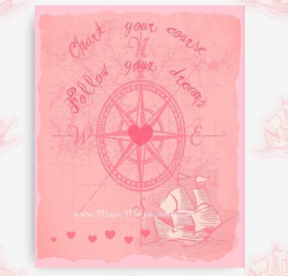 Inspirational Nursery Wall Decor, Nautical Map by Magic Markings ...