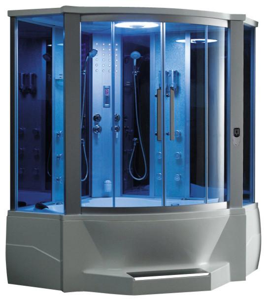 Ariel 701 Steam Shower with Whirlpool Bathtub modern-steam-showers