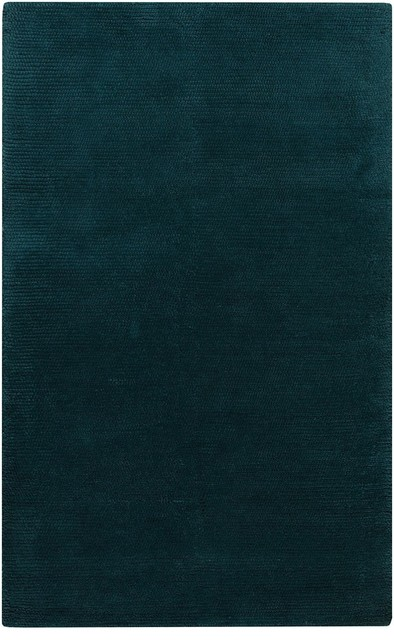 "Plush Cambria 8'x10'6"" Rectangle Teal Green, Peacock Green Area Rug modern-rugs"