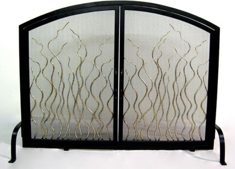 Ronins Vine 2 Door Firescreen modern-fireplace-accessories