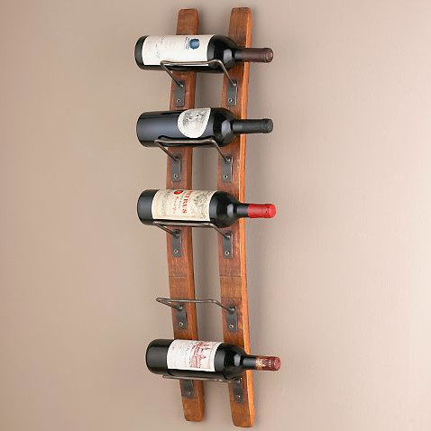 Barrel Stave Wall Wine Rack contemporary wine racks