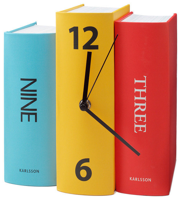 Book Clock eclectic clocks