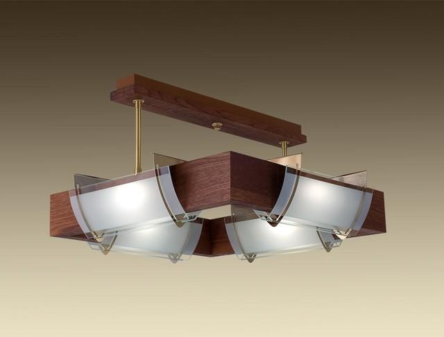 Kichler Barrington 3 Light 22 In Cylinder Vanity Light At: Ceiling Light Semi Flush Mount Solid Oak Wood PALMA 4x150W