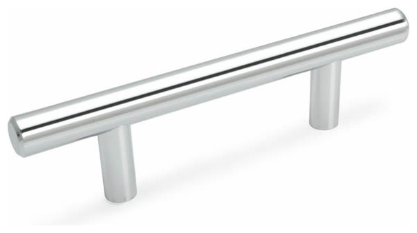 Cosmas european bar pull polished chrome contemporary cabinet and drawer handle pulls by - Contemporary cabinet pulls ...