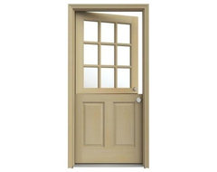 9-Lite Unfinished Hemlock Dutch Entry Door with Unfinished AuraLast Jamb traditional-front-doors