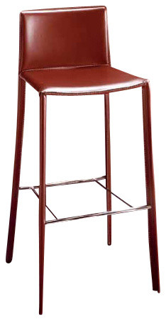 Dark brown steel bar stool