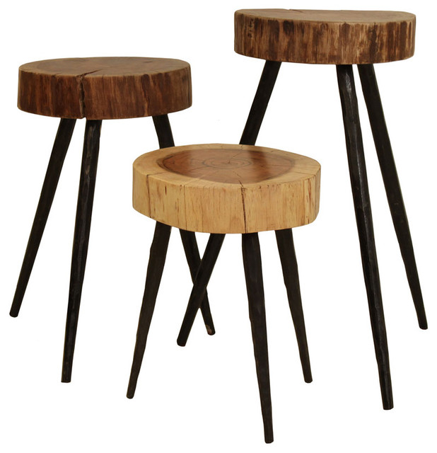 Cobble Hill Terra Stools/Side Tables eclectic-side-tables-and-end-tables