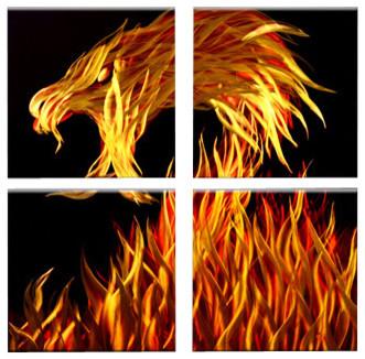 'Fire Dragon' Metal Wall Art contemporary-artwork