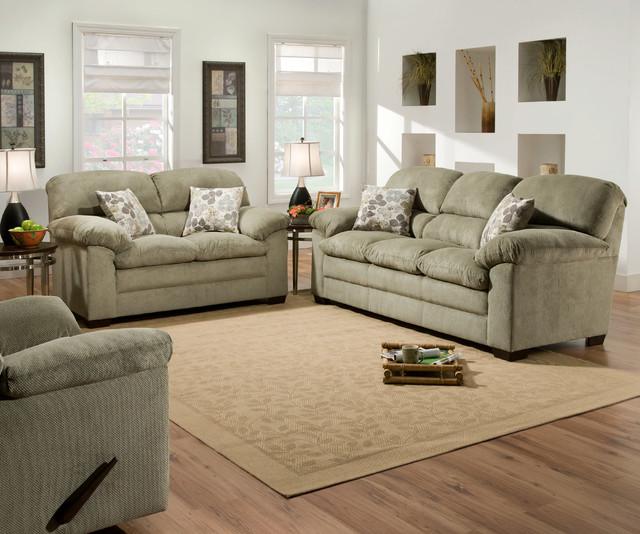 Puff Moss Sofa And Loveseat Set
