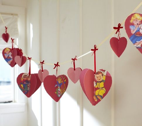 Heart Garland eclectic kids decor