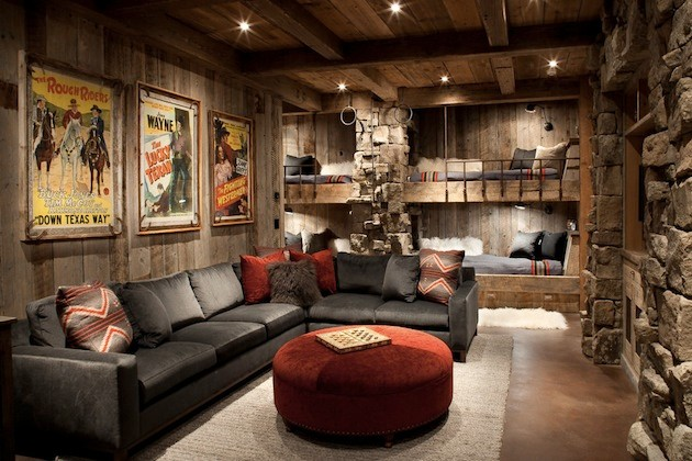 Man Caves Houzz : Man caves contemporary basement detroit by