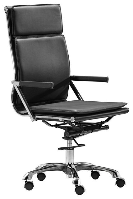 Zuo Lider Plus Black High Back Office Chair contemporary-task-chairs