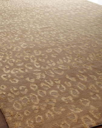 Golden Cheetah Rug, 9' x 12' traditional-rugs