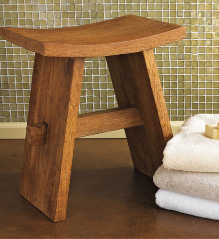 Teak Bath Stool Contemporary Shower Benches Seats By Gaiam