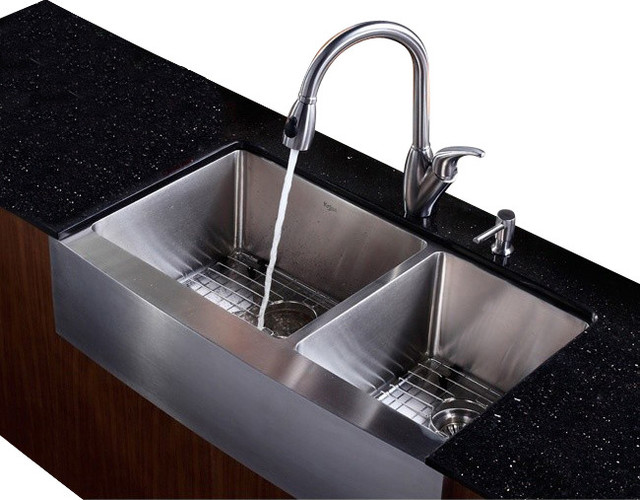 36 in farmhouse bowl sink with faucet and soap