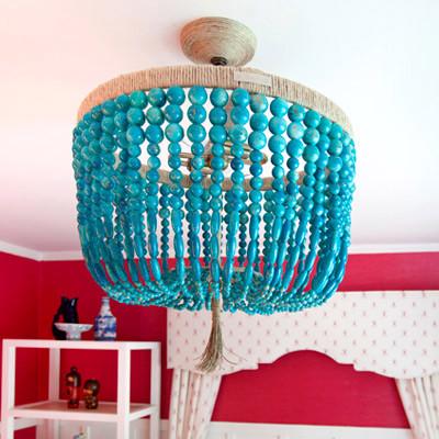 Ro Sham Beaux Malibu Turquoise Chandelier eclectic-chandeliers