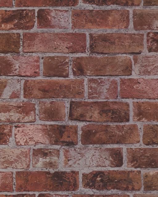 Red Brick Textured Wallpaper - Rustic - Wallpaper ...