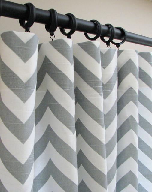 3 Panels of Decorative Designer Custom Curtains by Castle Creek Designs modern-curtains