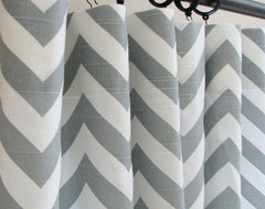 3 Panels of Decorative Designer Custom Curtains by Castle Creek Designs modern-curtains