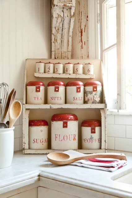 Vintage-Inspired Inglewood Cottage traditional food containers and storage