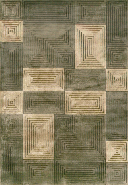 "Loloi Floyd FL-05 8'6"" x 11'6"" Olive, Sage Rug contemporary-rugs"