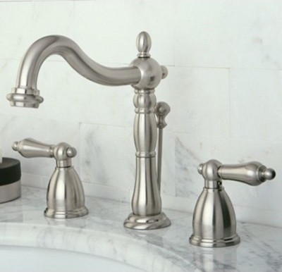 Kingston Brass Heritage KB197 Widespread Bathroom Faucet modern-bathroom-faucets-and-showerheads