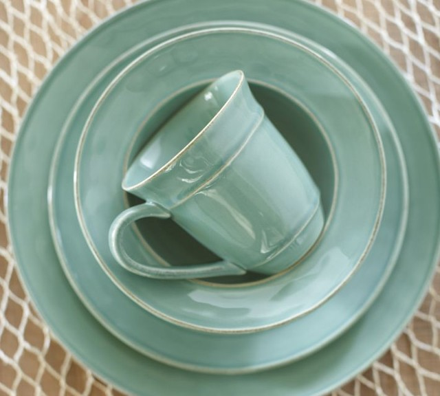 Cambria Dinnerware Turquoise Blue Contemporary