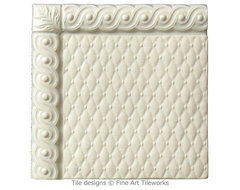 Petite French Quilt 6x6 handmade tiles contemporary