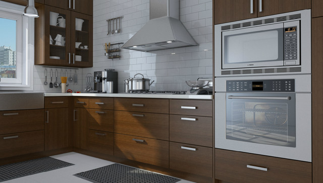 Bamboo Scotch Slab Contemporary Kitchen Cabinetry