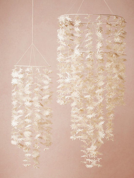 Paper Starflower Chandelier -