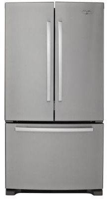 Whirlpool Refrigerator. Gold 24.8 cu. ft. French Door Refrigerator in Monochroma contemporary-refrigerators-and-freezers