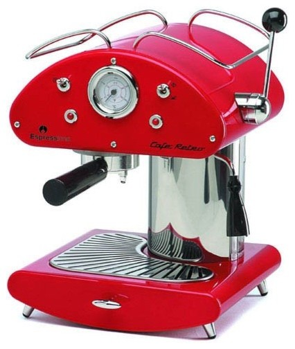 Espressione Cafe Retro Espresso Machine-Red contemporary-coffee-and-tea-makers
