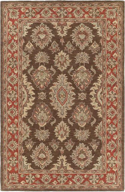 Kaleen Khazana Negril 2' x 3' Coffee Rug contemporary-rugs