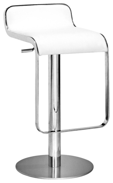 Zuo Equino White Adjustable Height Barstool contemporary-bar-stools-and-counter-stools