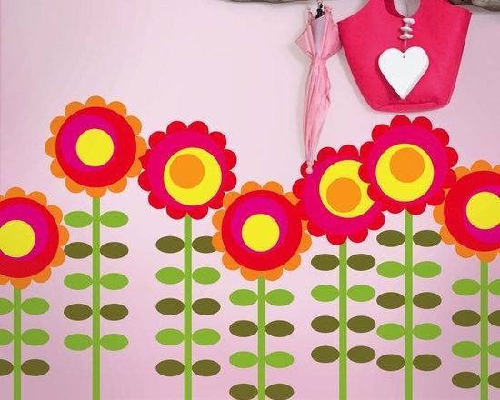 Wallcandy Arts Happy Flowers Decal - Wallcandy Arts Happy Flowers Decal
