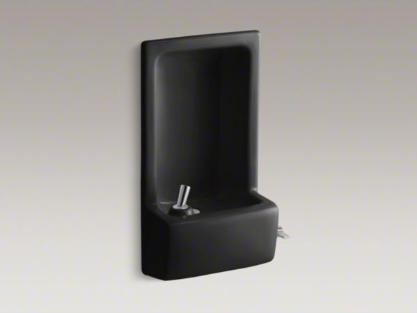 KOHLER Glenbrook(TM) semi-recessed drinking fountain contemporary-outdoor-fountains-and-ponds