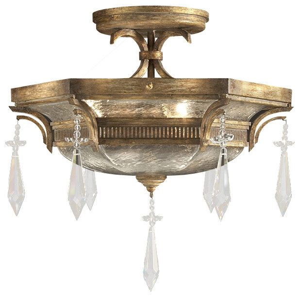 Monte Carlo Semi-Flush Mount, 569840ST traditional-flush-mount-ceiling-lighting
