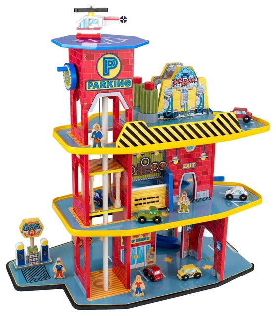 Deluxe Garage Set by Kidkraft - Modern - Kids Toys And Games - by The Organizing Store