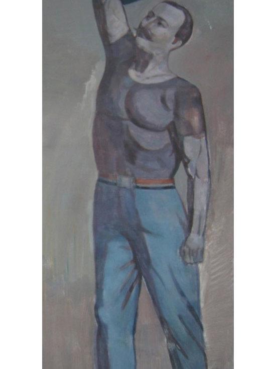 Art - Man Holding Weight