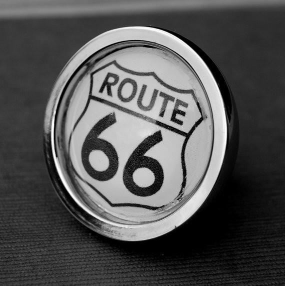 Route 66 Cabinet Knob by Daisy Mae Designs eclectic-cabinet-and-drawer-knobs