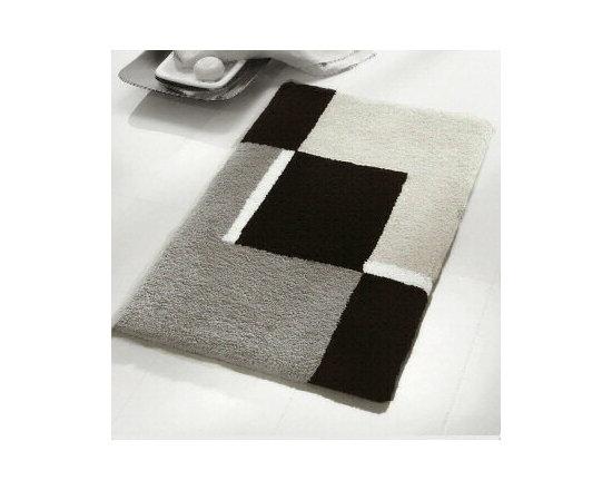 Dakota Bath Rugs from Vita Futura - Our Dakota bath rugs feature a contemporary, geometric, intersecting block pattern design.