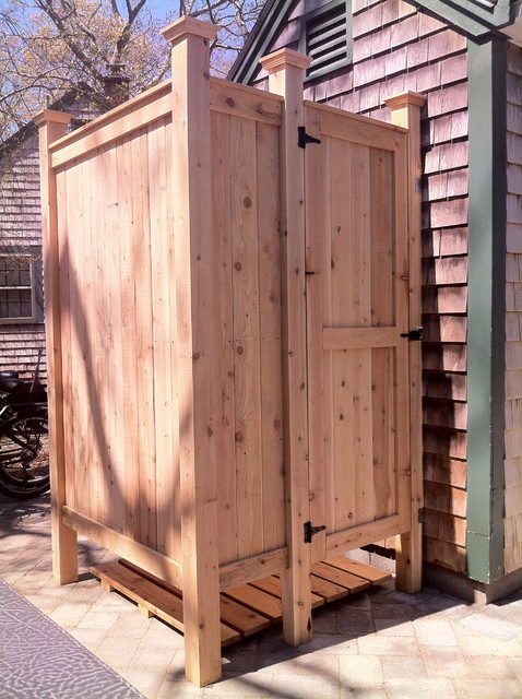 standard outdoor cedar shower cape cod ma outdoor products