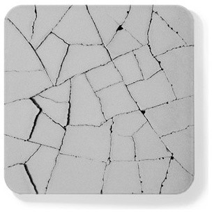 Water Absorbent Concrete Coaster (Dry Land, in Gray) modern-tabletop