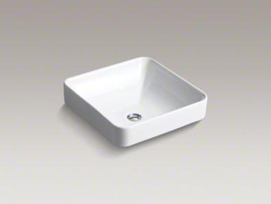 Kohler Vox Sink : KOHLER Vox Square Vessel Sink - Bathroom Sinks - by Kohler