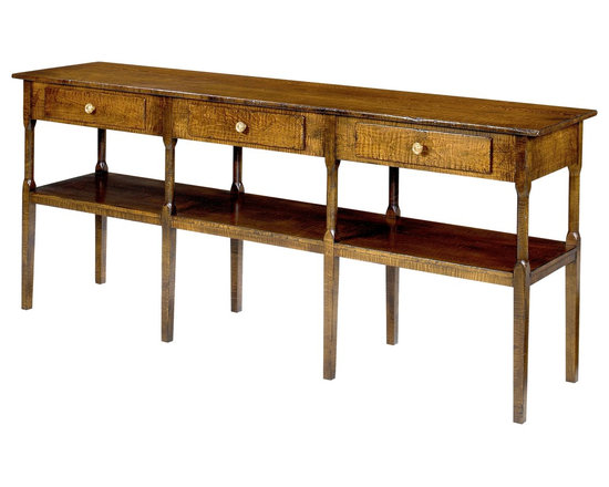 Wright Table Company - The No. 34 Console Table, Shown in Curly Maple -