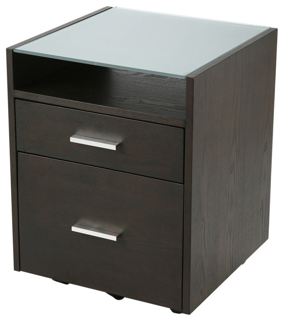 Ballard File Cabinet-Wenge/Silvr contemporary-filing-cabinets-and-carts