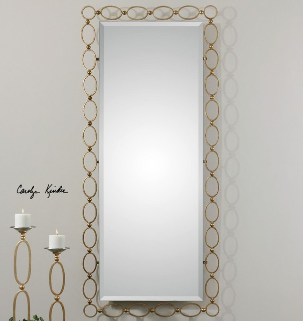 Lauria Tall Gold Mirror Modern Wall Mirrors By